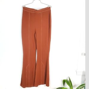 ASOS Burnt Orange Wide Flare Leg Stretch Panta